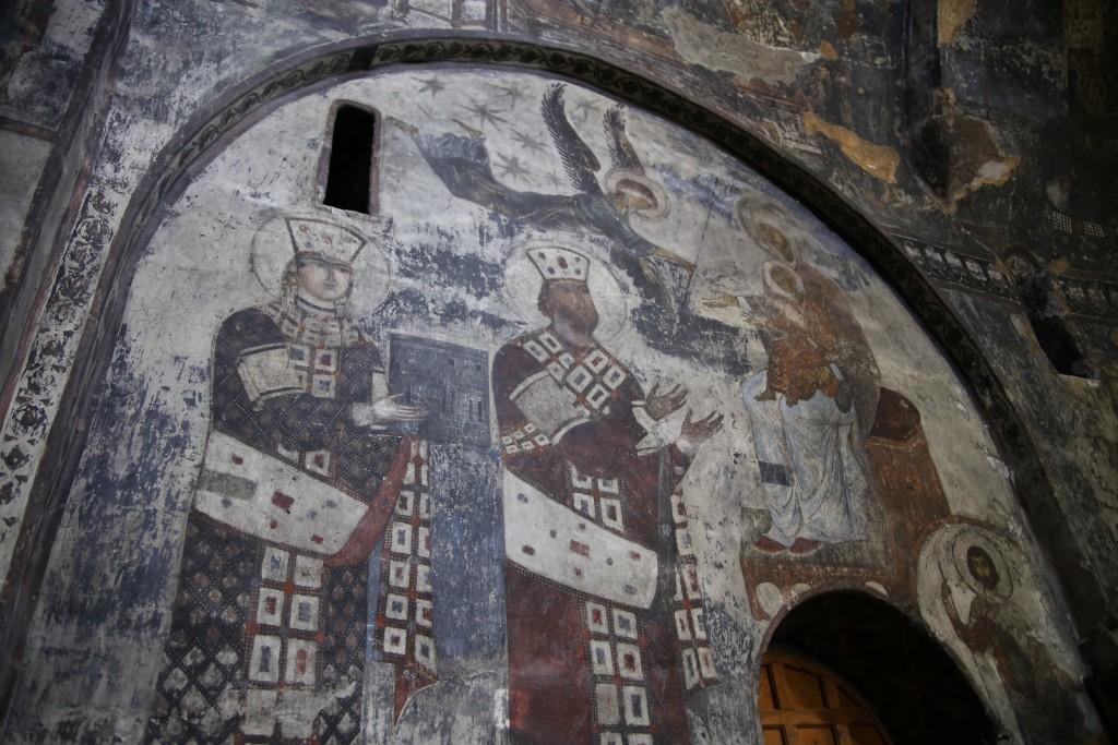 Freski w Vardzi (fot. commons.wikimedia.org)
