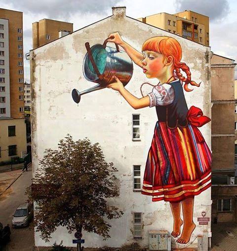 Białystok - Natalia Rak (fot. streetartglobe - fb)