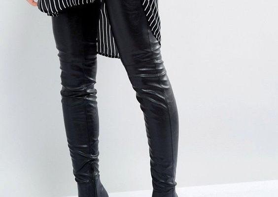 Stylizacje z kozakami za kolano na zimę