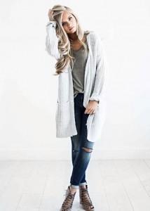 Stylizacje ze swetrem na zimę