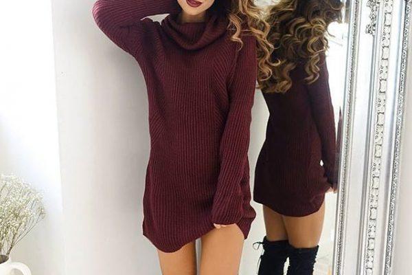 Swetrowe sukienki